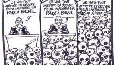 Alleszeggende cartoon in een lokale krant